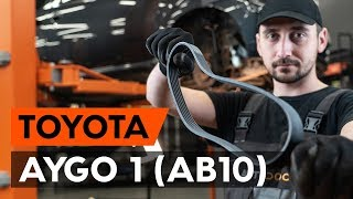 Ako vymeniť ozubený klinový remeň na TOYOTA AYGO 1 (AB10) [NÁVOD AUTODOC]