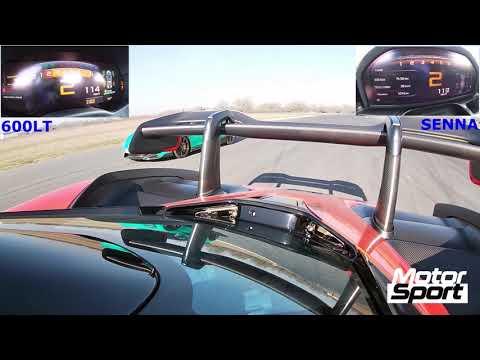 Drag race : McLaren Senna VS 600 LT