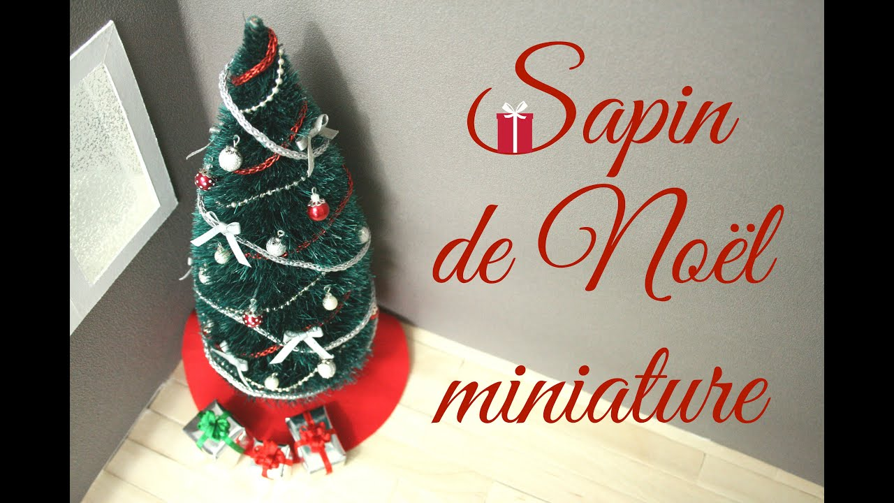 tuto sapin de no l miniature miniature christmas tree youtube. Black Bedroom Furniture Sets. Home Design Ideas