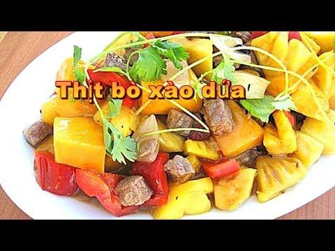 Thịt bò xào dứa cà chua