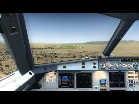 Cockpit A320 landing at Area 51