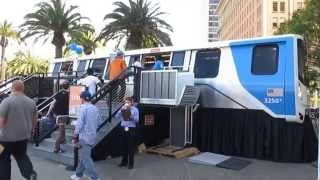 "BART ""Fleet of the Future"" New Train Car Model @ Justin Herman Plaza San Francisco California (2014)"