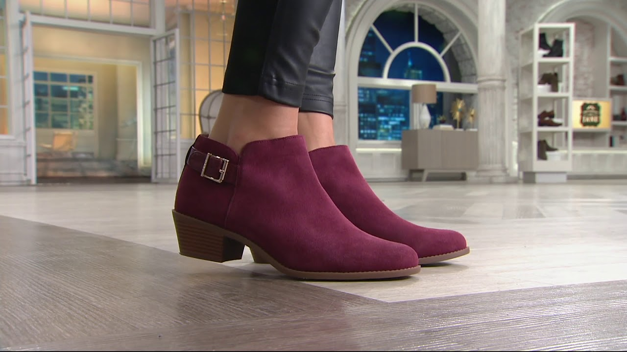 Vionic Orthotic Suede Ankle Boots with