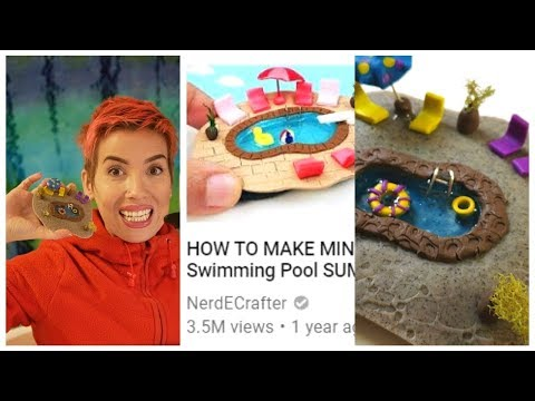I Tried a NerdECrafter Tutorial - Swimming Pool w/ Polymer Clay & Resin