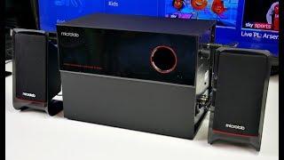 Microlab M200 2.1 Multimedia PC Speakers - Subwoofer - 40W