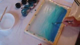 SILK PAINTING - Accessories and colour transition painting