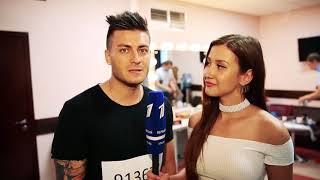 Томас Грациосо, на кастинге проекта голос на Первом канале (август 2017)