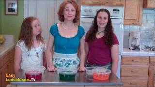 Fun With Jell-o!  An Easy, Refreshing Dessert Made Right In Your Lunchbox.