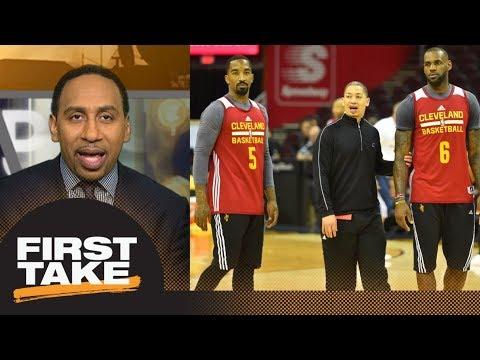 Stephen A. Smith blames LeBron James, Tyronn Lue, J.R. Smith for Cavs' struggles | First Take | ESPN