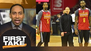 Stephen A. Smith blames LeBron James, Tyronn Lue, J.R. Smith for Cavs' struggles | First Take | ESPN