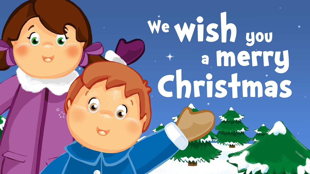 We wish you a merry Christmas (christmas song for kids with lyrics ...