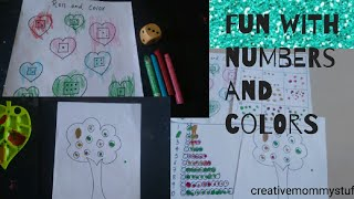 Fun with numbers and Colors | fingerprint number counting activity for toddlers and preschoolers