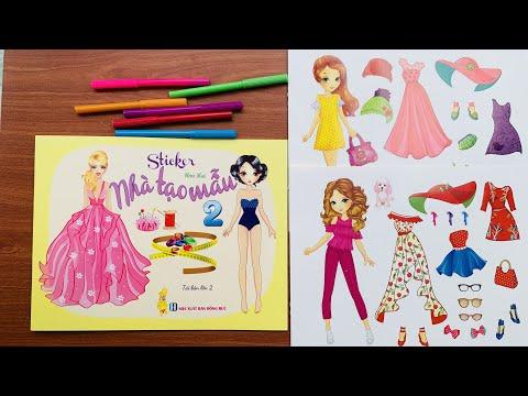 Sách hình dán Nhà Thiết Kế Thời Trang Quyển 2 - Sticker dolly dressing book (RainbowCandy)