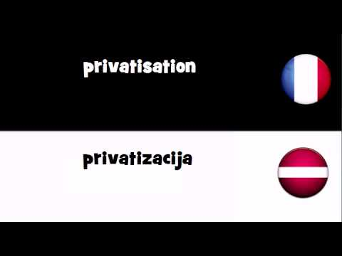 Dites le en 20 langues # privatisation