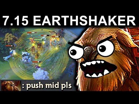 EPIC EARTHSHAKER PATCH 7.15 DOTA 2 NEW META GAMEPLAY #99 (AMAZING ECHOSLAM CARRY EARTHSHAKER)