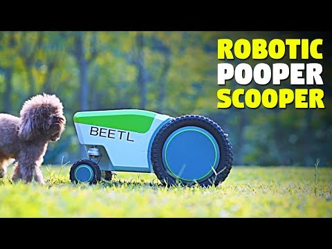 Automatic Dog Poop Pick Up Robot | Beetl | TheSuperBOO!