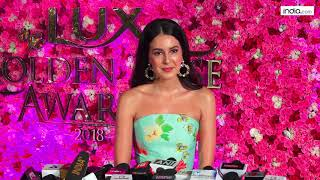Isabel Kaif at The Red Carpet of Lux Golden Rose Awards 2018