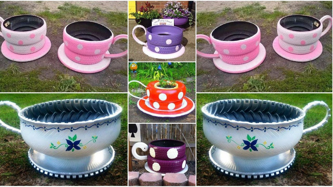 Large Tea Cup Planter How To Make A Tire Planter Flower Pot
