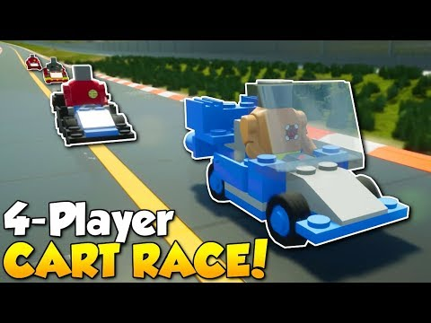 CART RACE WITH 4 PLAYERS! - Brick Rigs Multiplayer Gameplay - Cart Race Challenge! en streaming
