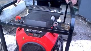 видео Глушитель на двигатель Honda GX 620