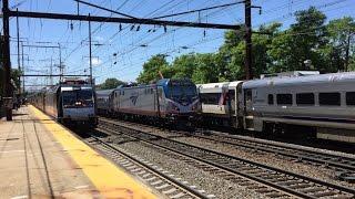 Amtrak & NJ Transit HD 60fps: Mid-Afternoon NEC Action @ Metuchen w/ ACS-64 669 Test Extra 6/9/16