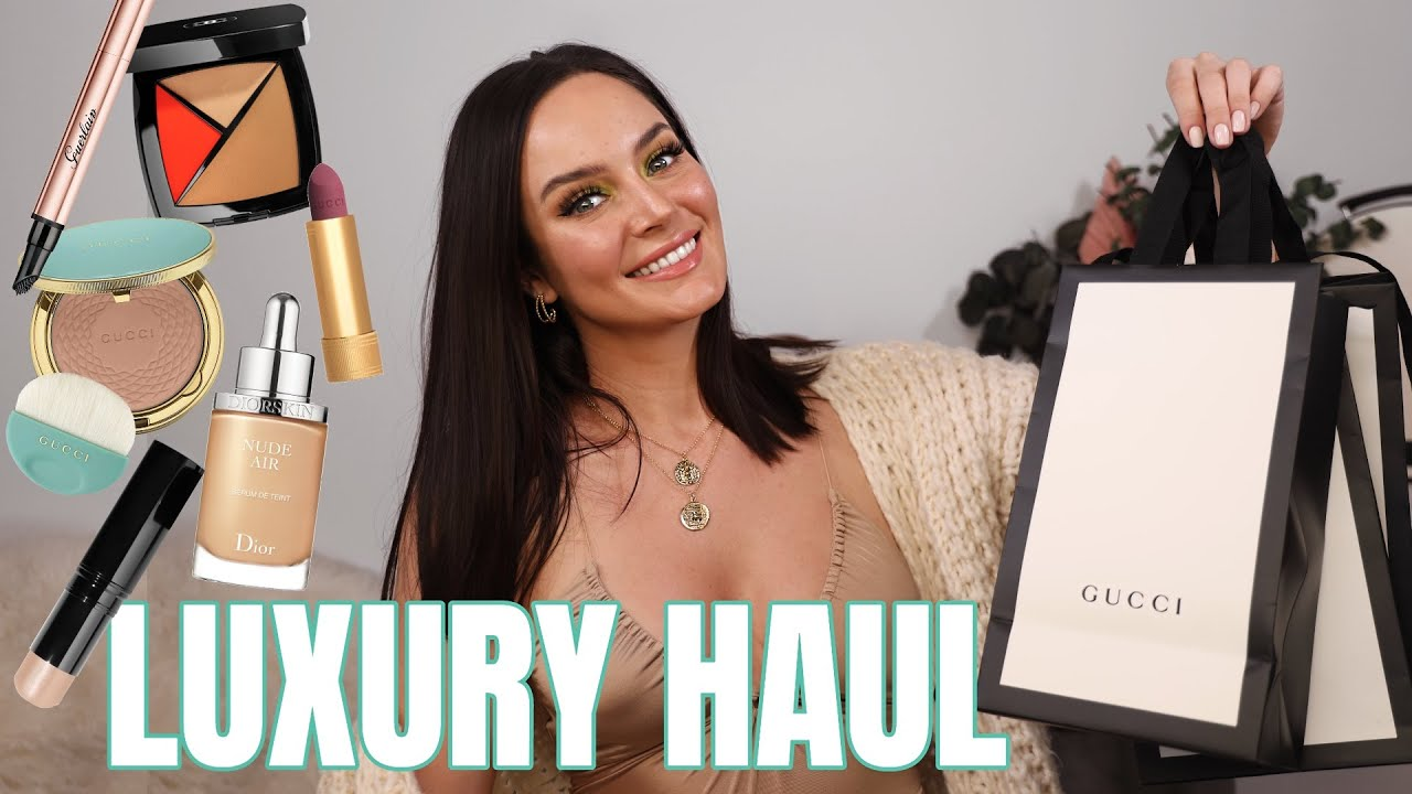 Trying On My New Makeup! Chanel, Gucci, Armani & More \\ Chloe Morello