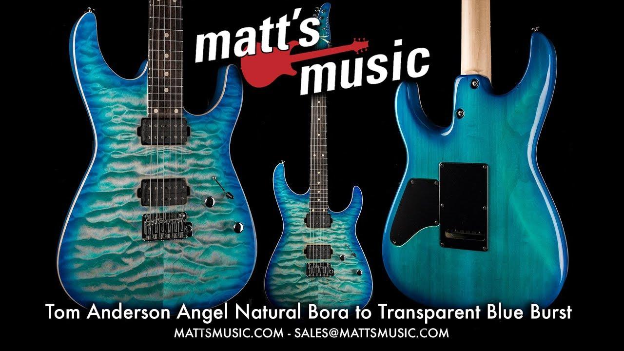 Matt's Music - Anderson Angel Natural Bora to Transparent Blue Burst -  Kendrick Fielder