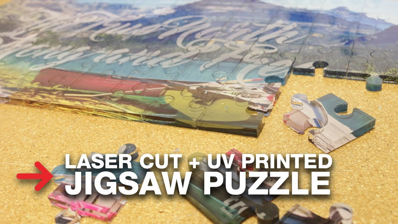 DIY Jigsaw Puzzle | Laser Cut Acrylic Puzzle | Trotec
