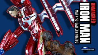 Diamond Select Avengers Infinity War Unmasked Iron Man Mark 50 Gallery Statue | Video Review
