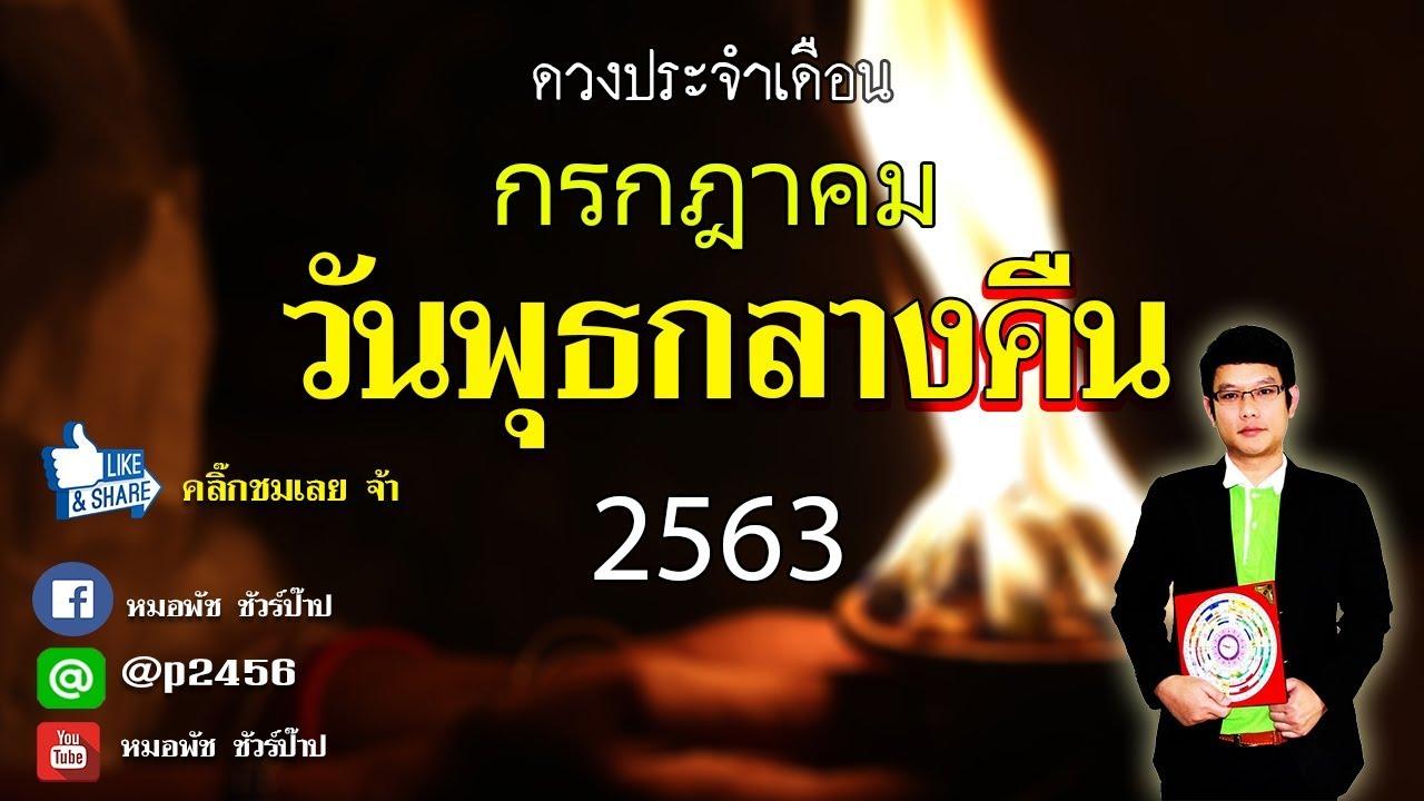 ดวงคนเกิดวันพุธกลางคืน ประจำเดือนกรกฎาคม 2563 By หมอพัช ชัวร์ป๊าป