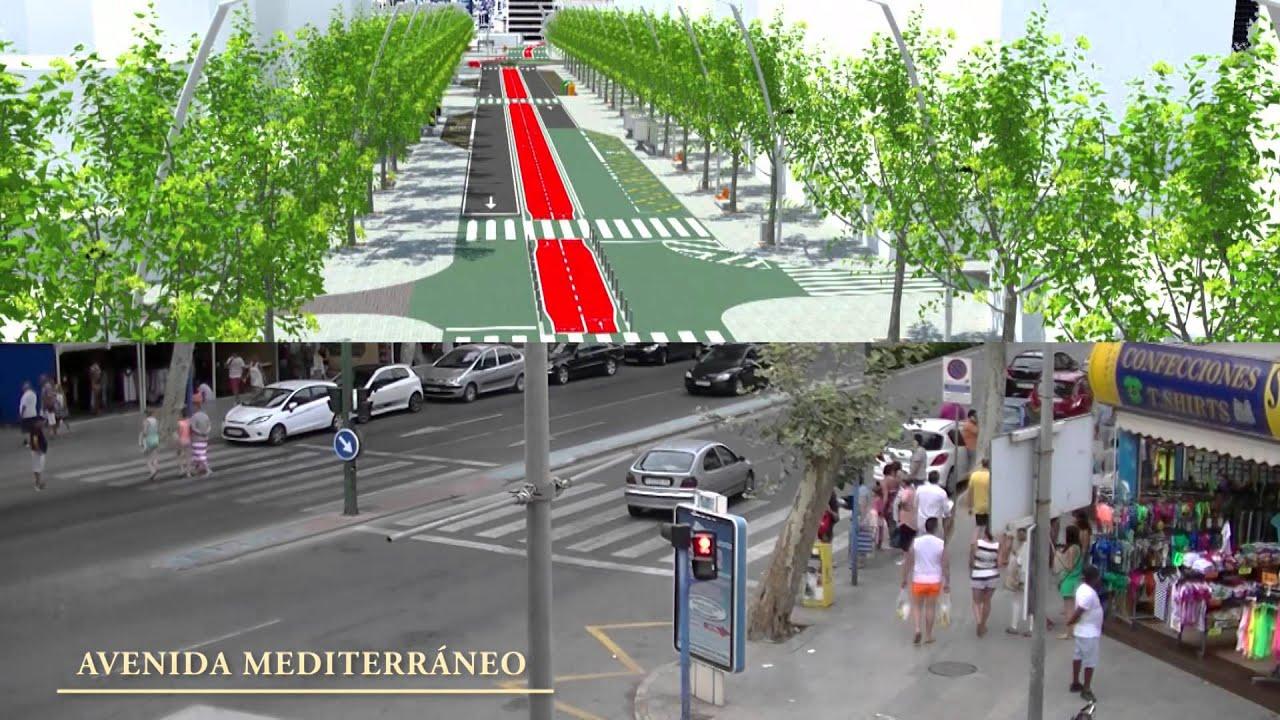 Resultado de imagen de fotografías de la avenida mediterráneo de benidorm