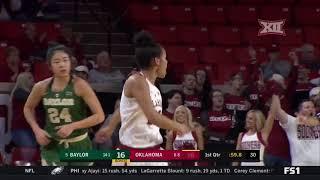 Baylor vs Oklahoma Women's Basketball Highlights