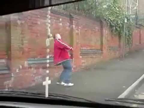 Drunk Man Tries To Walk Up The Street Youtube