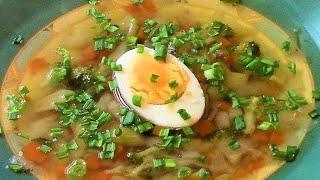Фитнес суп . Низкокалорийный  рецепт .
