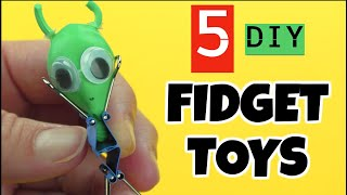 5 NEW DIY FIDGET TOYS you have to make- EASY DIY STRESS RELIEVERS FOR KIDS TO MAKE- CUTE DIY TOYS