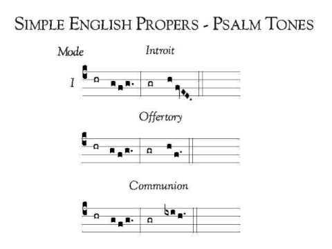 Simple English Proper (SEP) Psalm Tone I