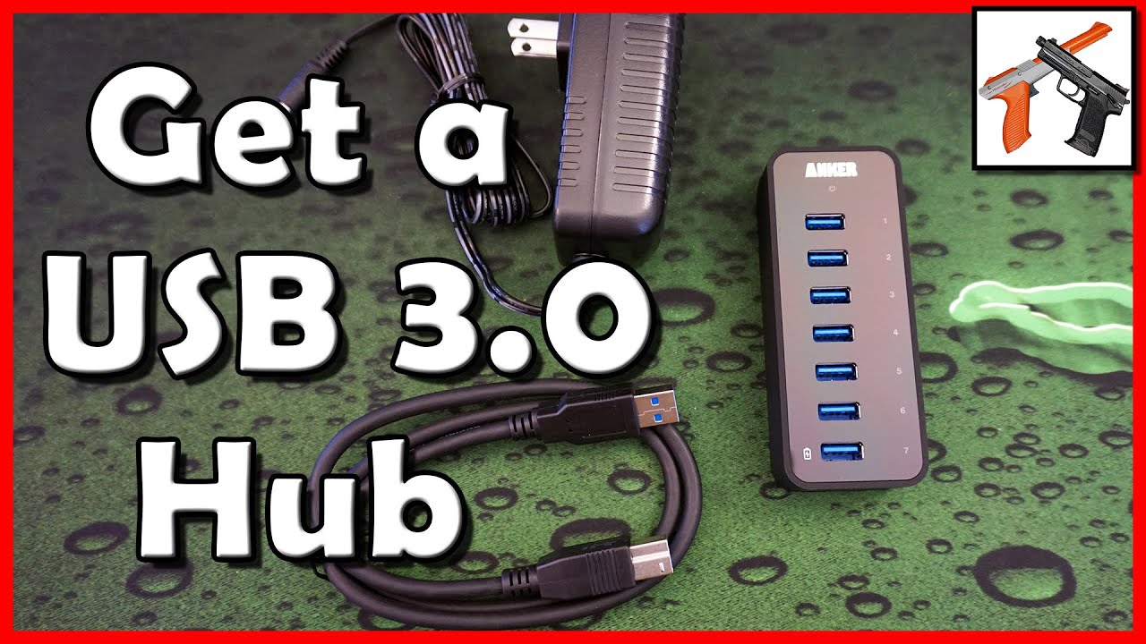 Anker Usb 3 0 7 Port Powered Hub Review Get More Usb Ports Youtube