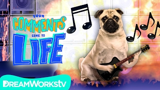 Cute PUG Shreds EPIC GUITAR SOLO! | YOUR COMMENTS COME TO LIFE!