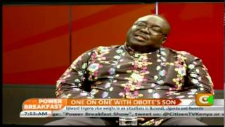 One on one with Obote's son