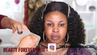 CLIENT HAIR AND MAKEUP TRANSFORMATION VLOG 21|BEAUTY FOREVER HAIR
