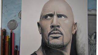 Como Dibujar A La Roca Dwayne Jhnson Drawing The Rock Dwayne Jhnson