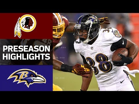 Redskins vs. Ravens | NFL Preseason Week 1 Game Highlights