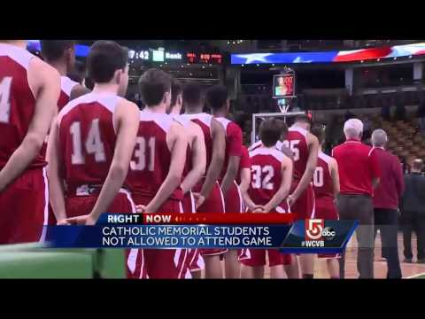Catholic Memorial plays in semifinal game, students asked not to attend