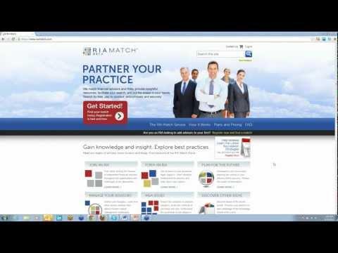 Webinar  RIA Match and Successful Succession Planning 2012-09-27