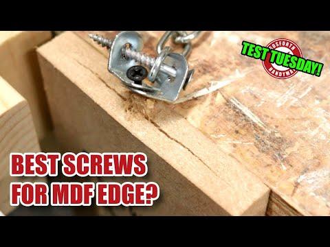 Screws for MDF edge? MDF edge grain screw test (part 1) - TEST TUESDAY! [165]