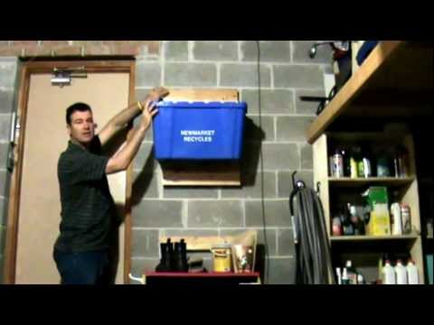 Tips On How To Wall Mount Recycling Bins Youtube