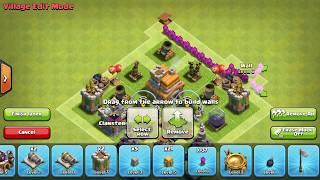Clash of clans th 7 troll base!!