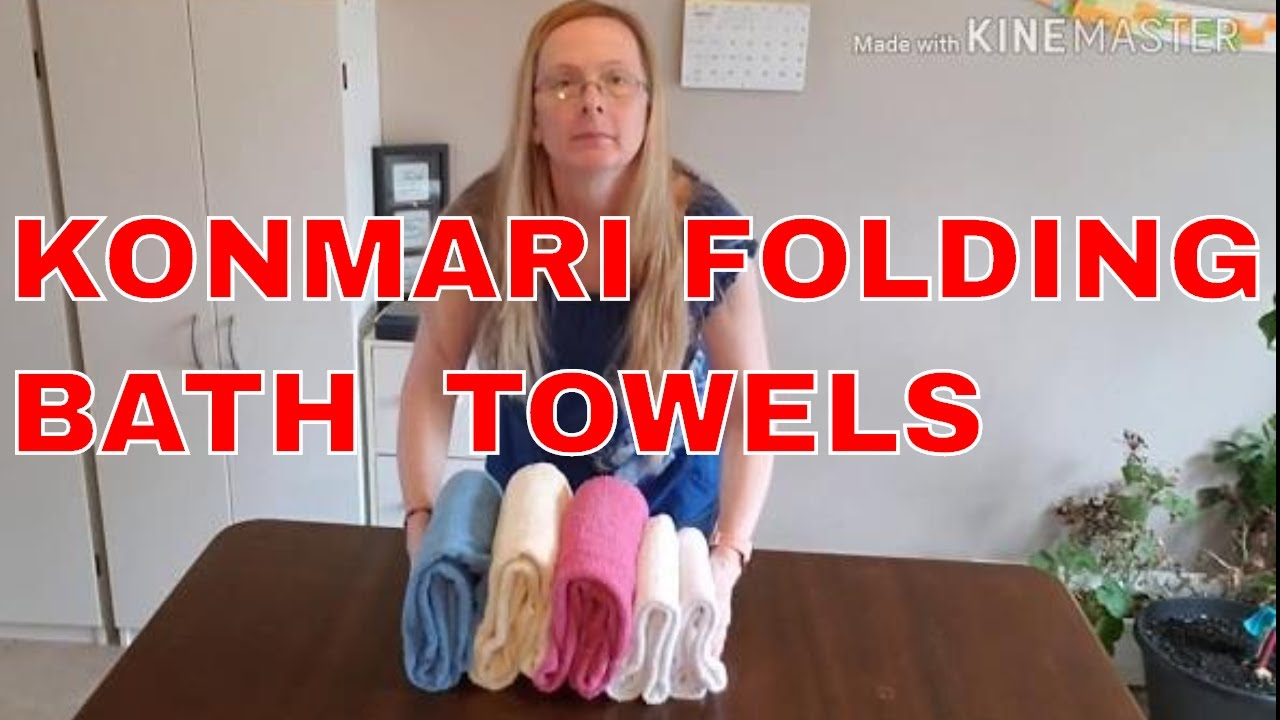 How to fold bath towels & bath sheets | konmari method folding towels bath sheets | Marie Kondo fold