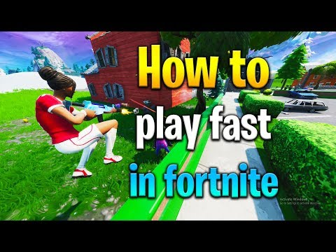 How To Be A FAST PLAYER In Fortnite! How To Get Better At Fortnite! Fortnite Tips!