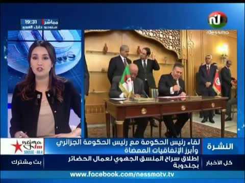لقاء بين رئيس الحكومة و نظيره الجزائري و إبرز الإتفاقيات الممضاة